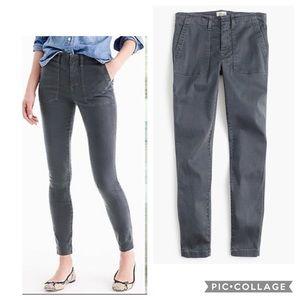J. Crew Skinny Stretch Gray Cargo Pant In Size 26